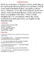 English Worksheets: doole�s life