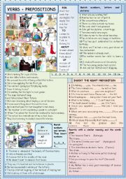 English Worksheets: Verbs + prepositions
