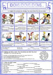 English Worksheets: IDIOMS,IDIOMS,IDIOMS...(6)
