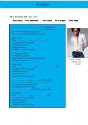 English Worksheets: Again by Lenny Kravitz