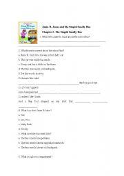 English Worksheets: Junie B Jones1 chapter 3