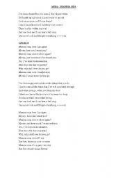 english worksheets abba lyrics mamma mia