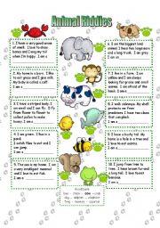 animal riddles esl worksheet by anna p. Black Bedroom Furniture Sets. Home Design Ideas