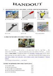 English Worksheet: technical English - energy engineering