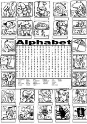 English Worksheets: Wordsearch THE ALPHABET