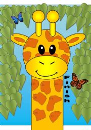 Giraffe Gameboard with Poem Dictaction Activity (Matching Cards Available in Another File)