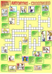 Antonyms - crossword