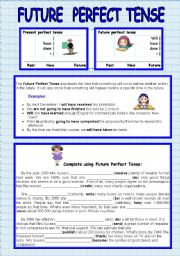 English Worksheet: Future Perfect Tense