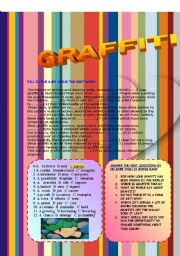 English Worksheet: GRAFFITI