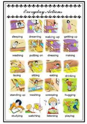 English Worksheets: Everyday actions