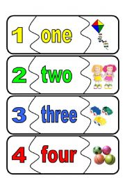 English Worksheets: number flashcards