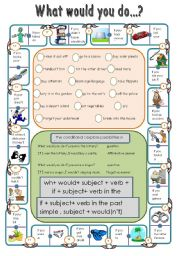 English Worksheets: conditional dominoes