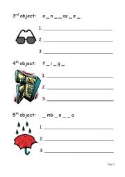 English worksheet: Objects, materials and uses (2/3)