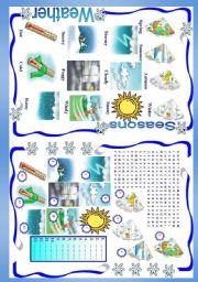 English Worksheet: Weather / Seasons