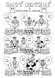 English Worksheet: Happy Birthday