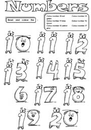 Numbers 10 to 20 - ESL worksheet by serennablack