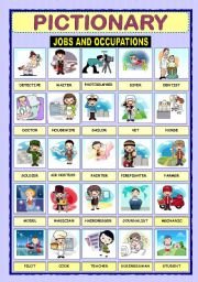 English Worksheets: PICTIONARY - JOBS AND OCCUPATIONS