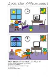 English Worksheets: Spot the differences 6