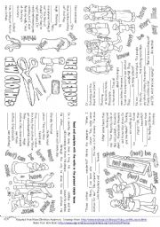 English Worksheet: The Emperor�s New Clothes (Story Mini Book)