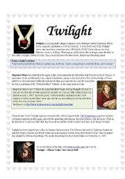 English Worksheet: Twilight: the book and movie