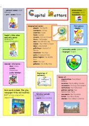 English Worksheets: CAPITAL LETTERS