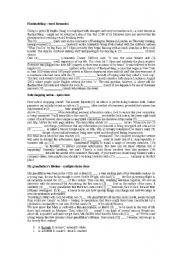 English Worksheet: CAE Use of English + Key