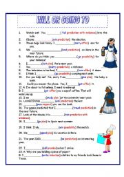 English Worksheet: WILL VS. GOING TO