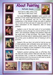 English Worksheets: About Painting - Raffaello Sanzio
