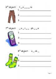 English worksheet: Objects, materials and uses (3/3)