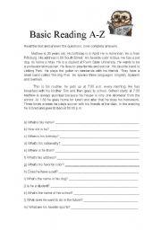 Basic Reading A-Z