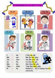 Possessive Adjectives Worksheets Key Furthermore Worksheet For New ...