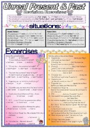 English Worksheet: Unreal Present & Unreal Past: Revision Exercises