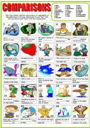 English Worksheets: COMPARISONS ( COMPARATIVES AND SUPERLATIVES)