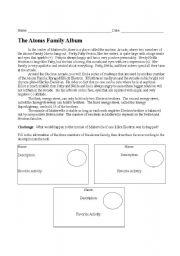 English worksheet: The Atoms Family Album