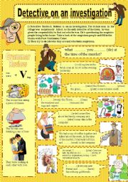 English Worksheet: Detective on an investigation (PAST CONTINUOUS) Episode-1-