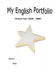 English Worksheet: Portfolio Cover & Reflection