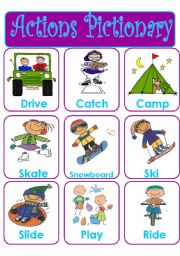 English Worksheets: ACTIONS PICTIONARY - SET 3