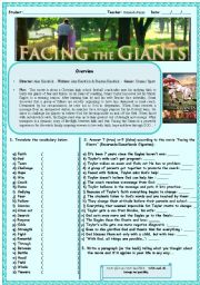 English worksheet: Beautiful movie - FACING THE GIANTS