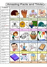 English Worksheets: Amazing Facts and Trivia #2