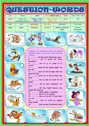 English Worksheets: Question-Words