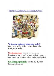 English Worksheet: What�s happening at the museum?