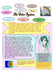 English Worksheet: The Solar System explained by the Sailors   - 1st Part