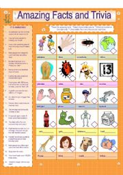 English Worksheets: Amazing  Facts and Trivia