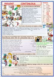 English Worksheets: Present continuous