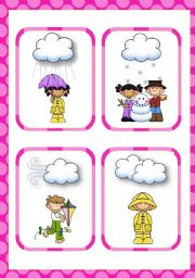 English Worksheet: Weather Flashcards (14)