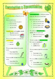 English Worksheets: Countables & Uncountables