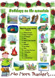 SUMMER HOLIDAYS ON THE MOUNTAIN (editable)