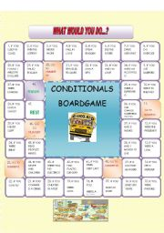 WHAT WOULD YOU DO IF...? CONDITIONALS BOARDGAME