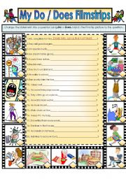 English Worksheet: My Do/Does Filmstrip