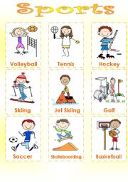 English Worksheets: SPORTS - SET 1